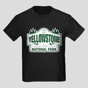 Yellowstone Green Design Kids Dark T-Shirt