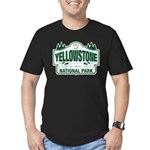 Yellowstone Green Design Men's Fitted T-Shirt (dar