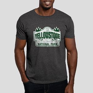 Yellowstone Green Design Dark T-Shirt