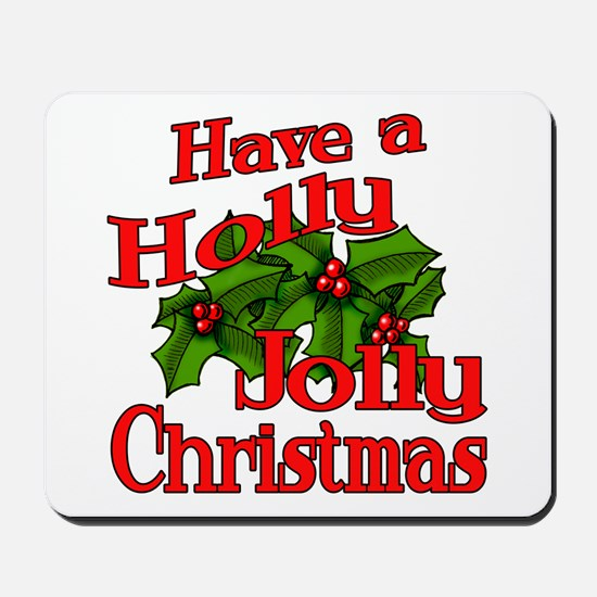 Holly Jolly Xmas Mousepad