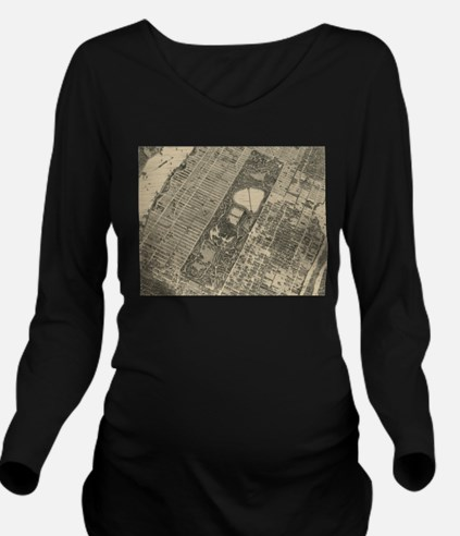 Vintage Central Park NYC Map (1879) T-Shirt