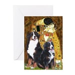 The Kiss - Two Bernese Greeting Cards (Pk of 20)