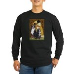 The Kiss - Two Bernese Long Sleeve Dark T-Shirt