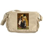 The Kiss - Two Bernese Messenger Bag