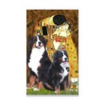 The Kiss - Two Bernese Rectangle Car Magnet