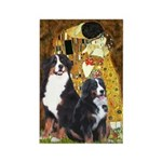 The Kiss - Two Bernese Rectangle Magnet (10 pack)