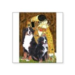 The Kiss - Two Bernese Square Sticker 3