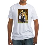 The Kiss - Two Bernese Fitted T-Shirt