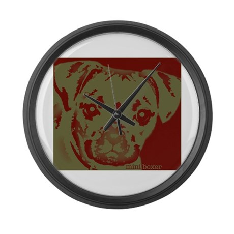 miniboxer_border Large Wall Clock