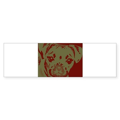miniboxer_border.jpg Sticker (Bumper)
