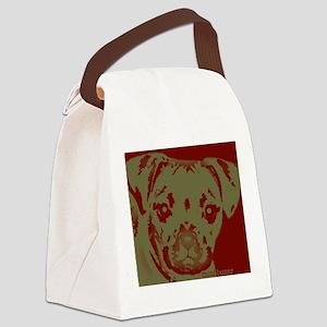 miniboxer_border Canvas Lunch Bag