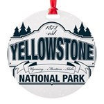 Yellowstone NP Blue Round Ornament