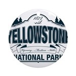 Yellowstone NP Blue Ornament (Round)
