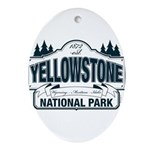 Yellowstone NP Blue Ornament (Oval)