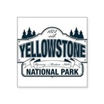 Yellowstone NP Blue Square Sticker 3