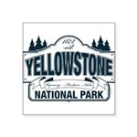Yellowstone NP Blue Square Sticker 3