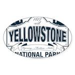 Yellowstone NP Blue Sticker (Oval 50 pk)