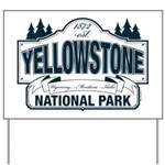 Yellowstone NP Blue Yard Sign