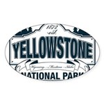 Yellowstone NP Blue Sticker (Oval)