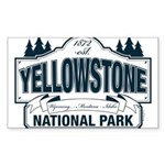 Yellowstone NP Blue Sticker (Rectangle)