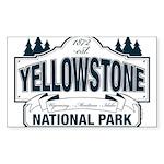 Yellowstone NP Blue Sticker (Rectangle)