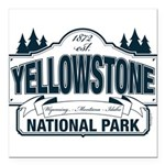 Yellowstone NP Blue Square Car Magnet 3