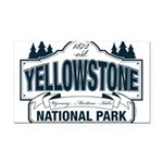 Yellowstone NP Blue Rectangle Car Magnet