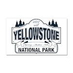 Yellowstone NP Blue Car Magnet 20 x 12