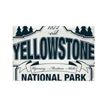 Yellowstone NP Blue Rectangle Magnet (100 pack)