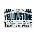 Yellowstone NP Blue Rectangle Magnet (10 pack)