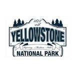 Yellowstone NP Blue 35x21 Wall Decal