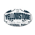 Yellowstone NP Blue 35x21 Oval Wall Decal