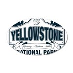 Yellowstone NP Blue 20x12 Oval Wall Decal
