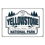 Yellowstone NP Blue Banner