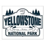 Yellowstone NP Blue Small Poster