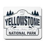 Yellowstone NP Blue Mousepad