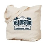 Yellowstone NP Blue Tote Bag