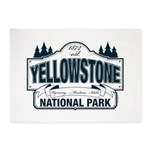 Yellowstone NP Blue 5'x7'Area Rug