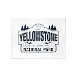 Yellowstone NP Blue 5'x7'Area Rug