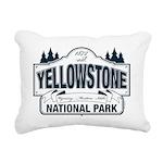 Yellowstone NP Blue Rectangular Canvas Pillow