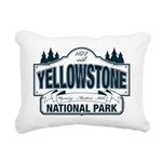 Yellowstone NP Blue Rectangular Canvas Pillow
