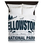 Yellowstone NP Blue Queen Duvet