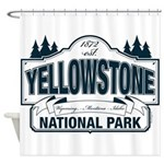 Yellowstone NP Blue Shower Curtain