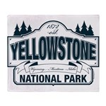 Yellowstone NP Blue Throw Blanket