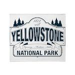 Yellowstone NP Blue Throw Blanket