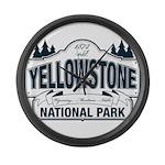 Yellowstone NP Blue Large Wall Clock
