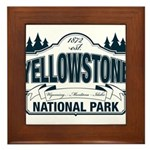Yellowstone NP Blue Framed Tile