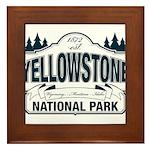 Yellowstone NP Blue Framed Tile