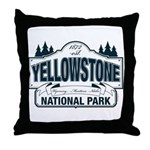 Yellowstone NP Blue Throw Pillow