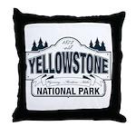 Yellowstone NP Blue Throw Pillow
